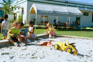children in sandbox