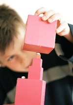 boy playing with blocks 2