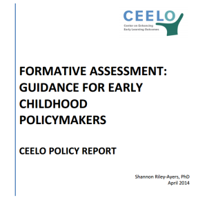 This policy report provides a guide and framework to early childhood policymakers considering  formative assessment. The report defines formative assessment and outlines its process and  application in the context of early childhood. The substance of this document is the issues for  consideration in the implementation of the formative assessment process. This guide provides a  practical roadmap for decision-makers by offering several key questions to consider in the process of  selecting, supporting, and using data to inform and improve instruction.